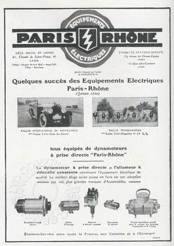 Advert for electical car accessories